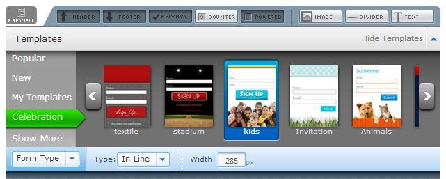 Grâce à Aweber, créez des formulaires de capture professionels et à l'image de votre site