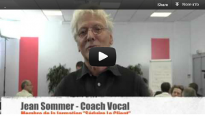 Jean Sommer, coach vocal, membre de Séduire Le Client